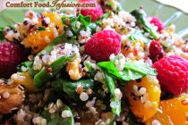 Quinoa Spinach and Raspberry Salad