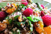 Quinoa Spinach and Raspberry Salad