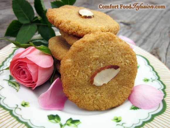 Chewy Almond Cardamom Cookies with Rosewater