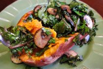 Sweet Potatoes with Balsamic Kale