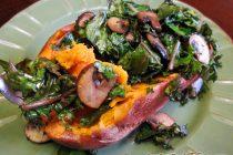 Sweet Potatoes with Balsamic Kale