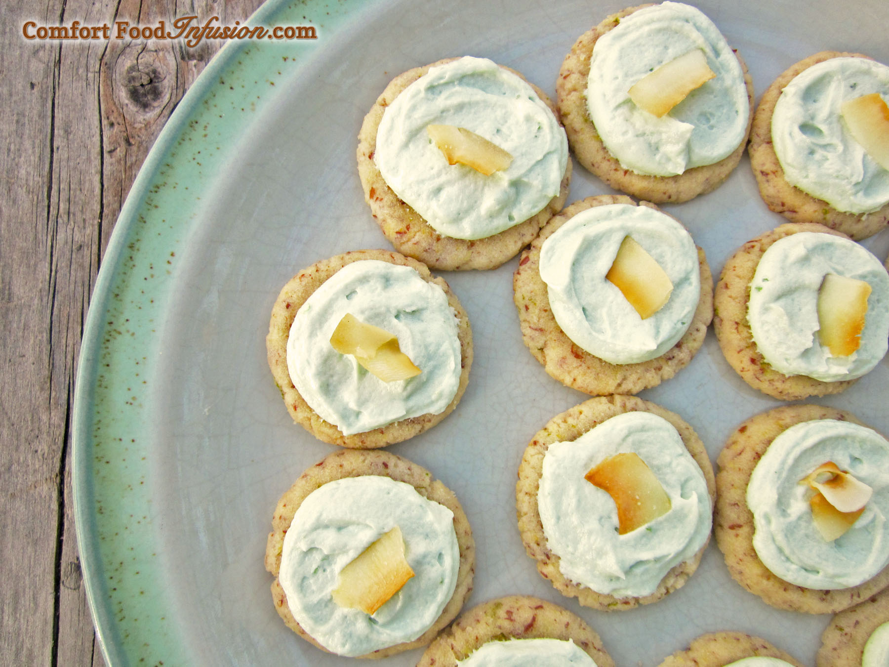 Coconut Lime Cookies. Made with coconut flour. Gluten free and vegan!