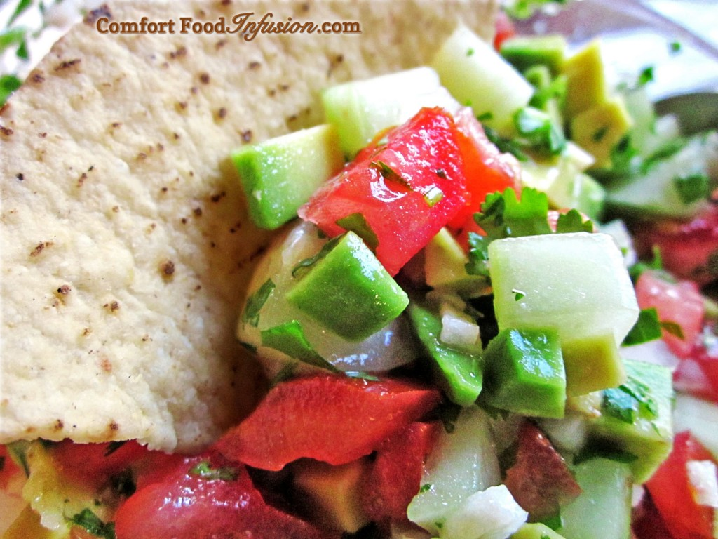 Cucumber Salsa. Cool, refreshing, delicious.