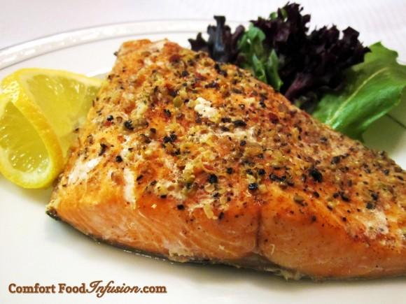 Simple Salmon seasoned with Trader Joe's Everyday Seasoning.