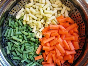 three bean salad prep