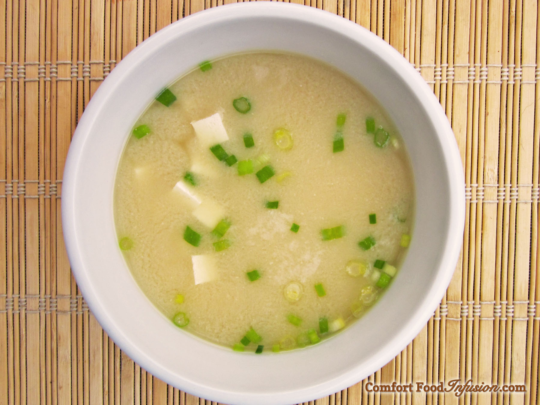 Miso Soup. Made with fresh miso paste.