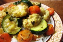 Roasted Vegetables with Green Curry Sauce