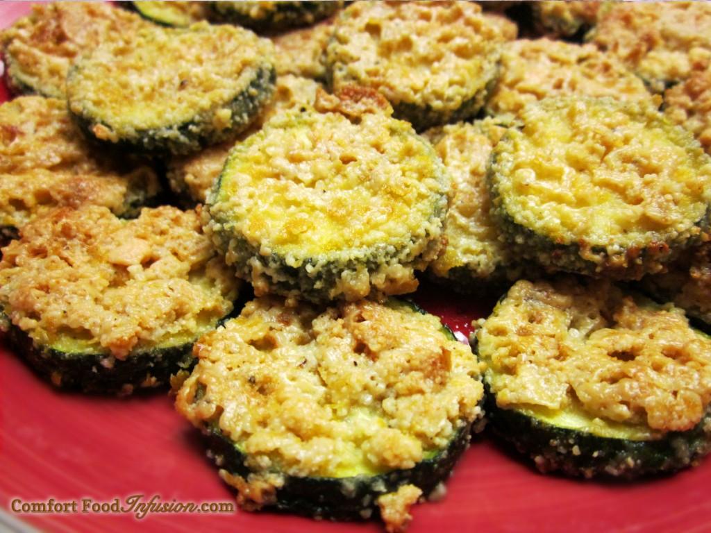 Vegan Zucchini 'Parmesan' Bites.