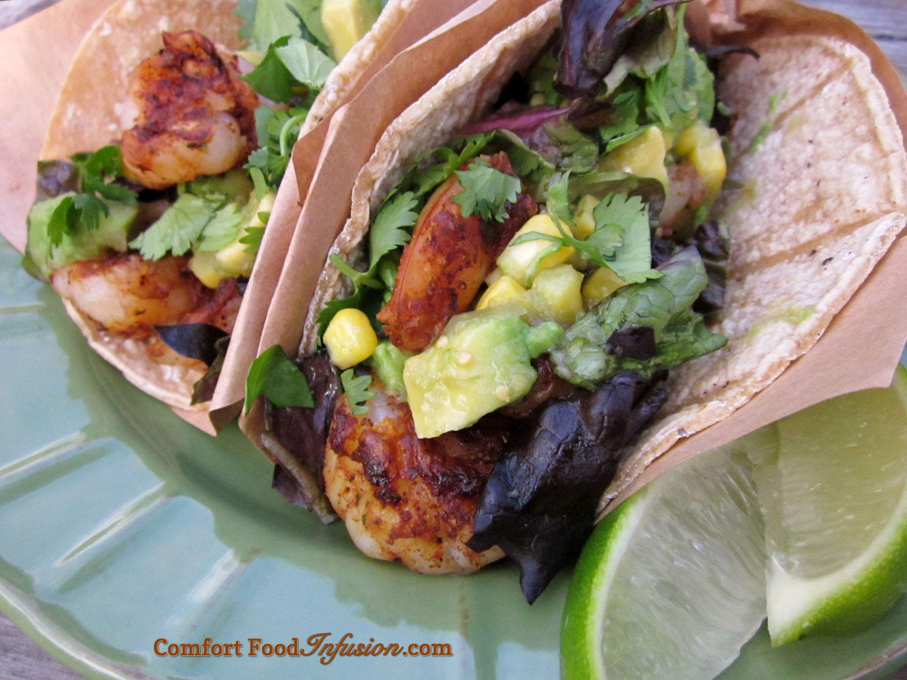Shrimp Tacos with Avocado Salsa Verde - Comfort Food Infusion
