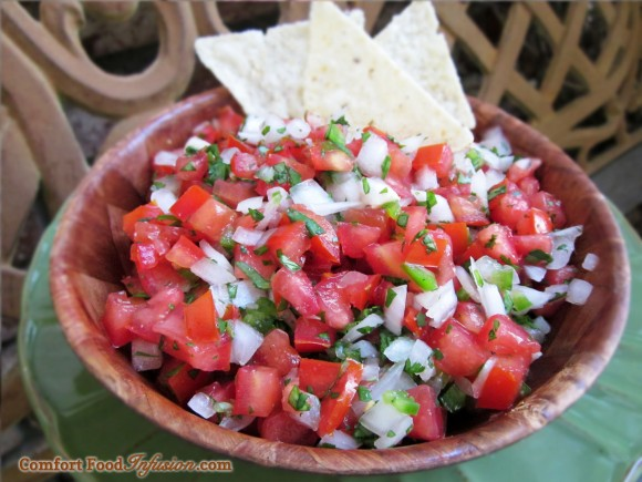 Pico De Gallo, or 'chunky salsa'.
