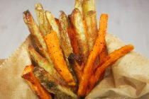 Sweet and Russet Oven Fries