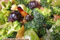 Broccoli Grape and Mock Bacon Salad