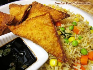 fried rice and wontons