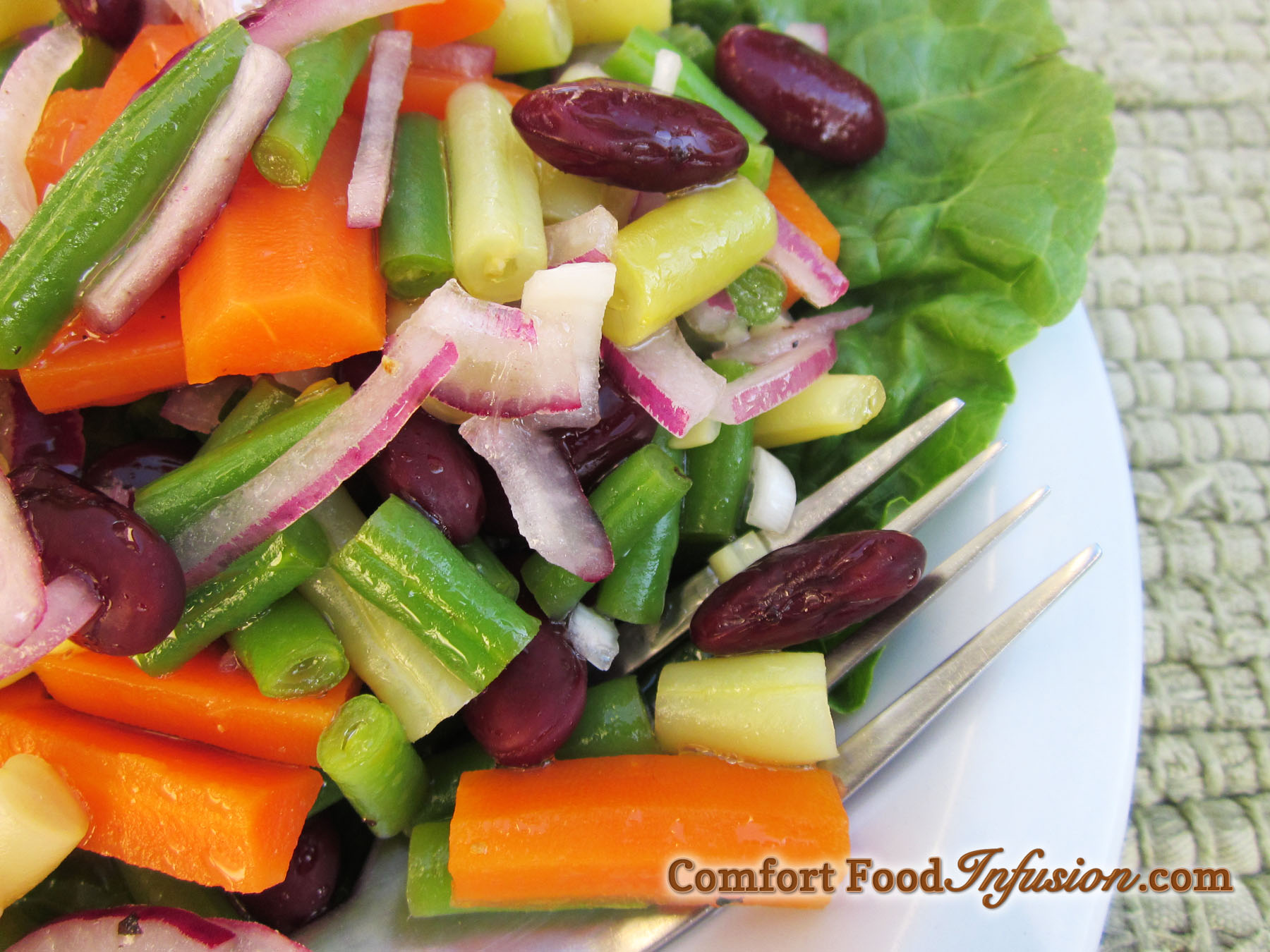 Three Bean and Carrot Salad