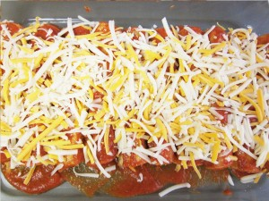 chicken enchilada prep