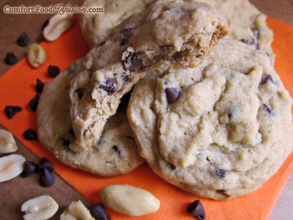 Peanut Butter Chocolate Chip Cookies. Uses my gluten free flour mix!